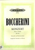 Okładka: Boccherini Luigi Rodolpho, Koncert D-dur na wiolonczelę i b.c.