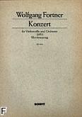 Okładka: Fortner Wolfgang, Koncert 1951 na wiolonczelę i orkiestrę (wyc. fort.)
