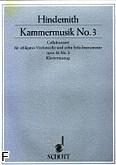 Ok�adka: Hindemith Paul, Kammermusik nr 3 op. 36 nr 2 na wiolonczel� i 10 instrument�w (wyc. fort.)