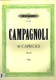 Okładka: Campagnoli Bartolomeo, 41 kaprysów op. 22