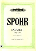 Okładka: Spohr Louis, II koncert d-moll op. 2 na skrzypce i orkiestrę (wyc.fort.)