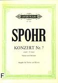 Okładka: Spohr Louis, VII koncert e-moll op. 38 na skrzypce i orkiestrę (wyc. fort.)