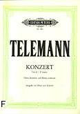 Okładka: Telemann Georg Philipp, Koncert f-moll na obój, orkiestrę smyczkową i b.c.