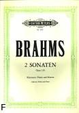 Okładka: Brahms Johannes, Sonaty op. 120: nr 1 f-moll i nr 2 Es-dur