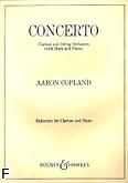 Ok�adka: Copland Aaron, Concerto na klarnet i orkiestr� smyczkow�