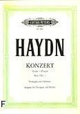 Okładka: Haydn Franz Joseph, Koncert Es-dur na trąbkę i orkiestrę (wyc.fort.)