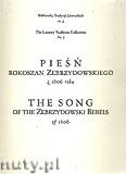 Ok�adka: Po�niak Piotr, Pie�� rokoszan Zebrzydowskiego z 1606 roku