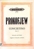 Ok�adka: Prokofiew Sergiusz, Concertino g-moll op. 132 na wiolonczel� i orkiestr� (wyc.fort.)