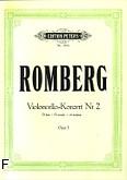 Okładka: Romberg Bernhard Heinrich, Koncert D-dur op. 3 nr 2 na wiolonczelę i orkiestrę (wyc.fort.)