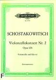 Okładka: Szostakowicz Dymitr, Koncert g-moll op. 126 na wiolonczelę i orkiestrę (wyc.fort.)