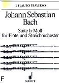 Ok�adka: Bach Johann Sebastian, Suita h-moll na flet i orkiestr� smyczkow�, BWV 1067 (wyc. fort.)