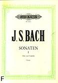 Ok�adka: Bach Johann Sebastian, Sze�� sonat na flet i b.c., z. 1: h-moll, Es-dur, A-dur; (urtext)
