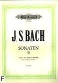 Okładka: Bach Johann Sebastian, Sześć sonat na flet i b.c., z. 2: C-dur, e-moll, E-dur; (urtext)