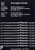 Okładka: Corelli Arcangelo, Sonaty na flet i b.c.; nr 3-4