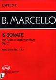 Okładka: Marcello Benedetto, 12 sonat op. 2 na flet i b.c.; z. 1