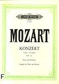 Okładka: Mozart Wolfgang Amadeusz, Koncert G-dur KV 313 na flet i orkiestrę (wyc.fort.)