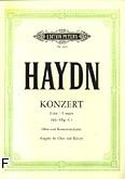 Okładka: Haydn Franz Joseph, Koncert C-dur Hob. VIIg na obój i orkiestrę (wyc. fort.)