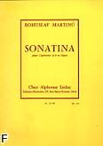 Okładka: Martinů Bohuslav, Sonatina