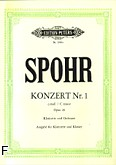Okładka: Spohr Louis, Koncert c-moll op. 26 nr 1 na klarnet i orkiestrę (wyc.fort.)