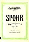 Ok�adka: Spohr Louis, Koncert c-moll op. 26 nr 1 na klarnet i orkiestr� (wyc.fort.)