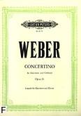 Ok�adka: Weber Carl Maria von, Concertino Es-dur op. 26 na klarnet i orkiestr� (wyc.fort.)