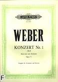Okładka: Weber Carl Maria von, Koncert f-moll op. 73 na klarnet i orkiestrę