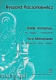 Ok�adka: Paciorkiewicz Ryszard, Dwie Miniatury