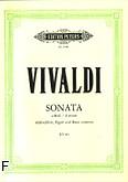Okładka: Vivaldi Antonio, Sonata a-moll na flet, fagot i b.c. (wyc.fort.)