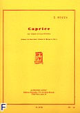 Okładka: Bozza Eugene, Caprice trompette ut ou sib et piano