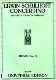 Okładka: Schulhoff Erwin, Concertino na flet, altówkę i kontrabas