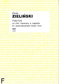 Okładka: Zieliński Maciej, Tractus na chór mieszany a cappella