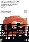 Okładka: Noskowski Zygmunt, Kwartet fortepianowy op. 8