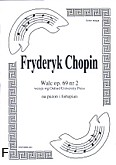 Okładka: Chopin Fryderyk, Walc, op. 69 nr 2 (wersja wg Oxford University Press)