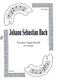 Ok�adka: Bach Johann Sebastian, Toccata i fuga d-moll na fortepian