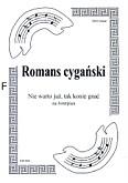 Okładka: Romans cygański, Nie warto już tak konie gnać