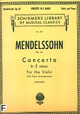 Ok�adka: Mendelssohn-Bartholdy Feliks, Concerto In E Minor, Op. 64 for Violin and Piano