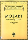Ok�adka: Mozart Wolfgang Amadeusz, Concerto In A, Op. 107 (K.622) (Clarinet / Piano)