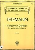 Okładka: Telemann Georg Philipp, Koncert G-dur na altówkę i fortepian
