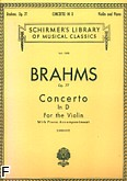 Okładka: Brahms Johannes, Concerto in D, Op. 77 for Violin and Piano