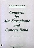 Ok�adka: Husa Karel, Concerto For Alto Saxophone And Concert Band