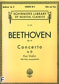 Ok�adka: Beethoven Ludwig van, Concerto In D Major, Op. 61 (Orchestra / Piano / Violin)