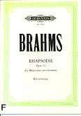 Okładka: Brahms Johannes, Rapsodia op. 53