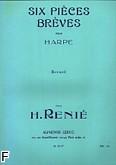 Okładka: Renié Henriette, Six Pieces breves