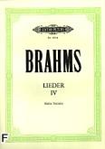 Okładka: Brahms Johannes, Lieder IV (głos wysoki)