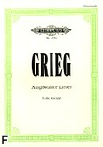 Okładka: Grieg Edward, Ausgewählte Lieder (głos wysoki)