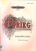 Ok�adka: Grieg Edward, Ausgew�hlte Lieder (g�os �redni)