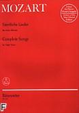 Okładka: Mozart Wolfgang Amadeusz, Sämtliche Lieder (głos wysoki)