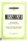 Okładka: Musorgski Modest, W izbie dziecięcej, pieśni i tańce śmierci