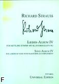Okładka: Strauss Ryszard, Album pieśni 4 (głos średni)
