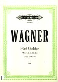 Okładka: Wagner Ryszard, Fünf Gedichte 'Wasendonk-Lieder'